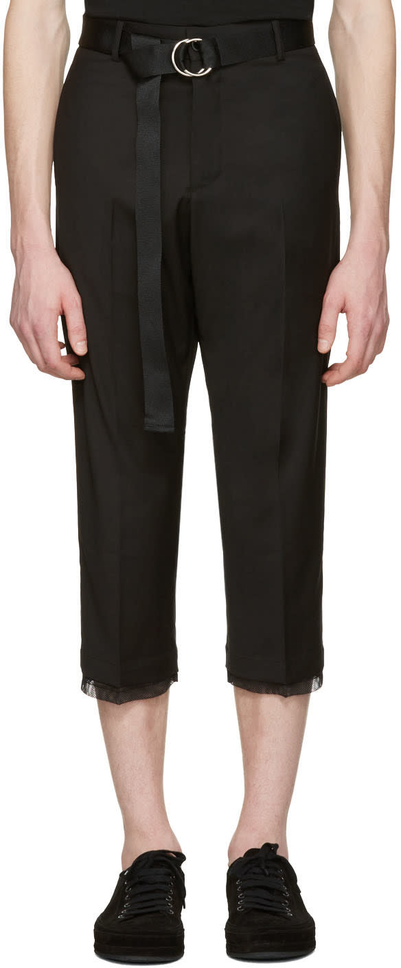 Image of D By D Black Belted Trousers