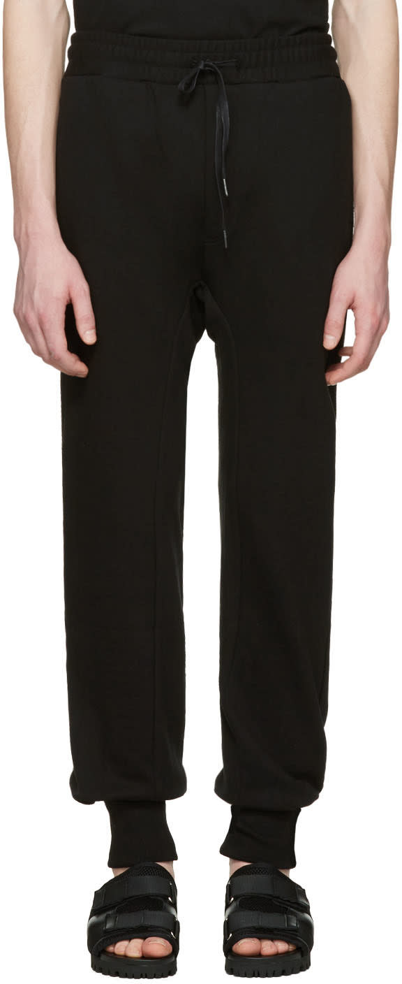 D By D Black French Terry Lounge Pants