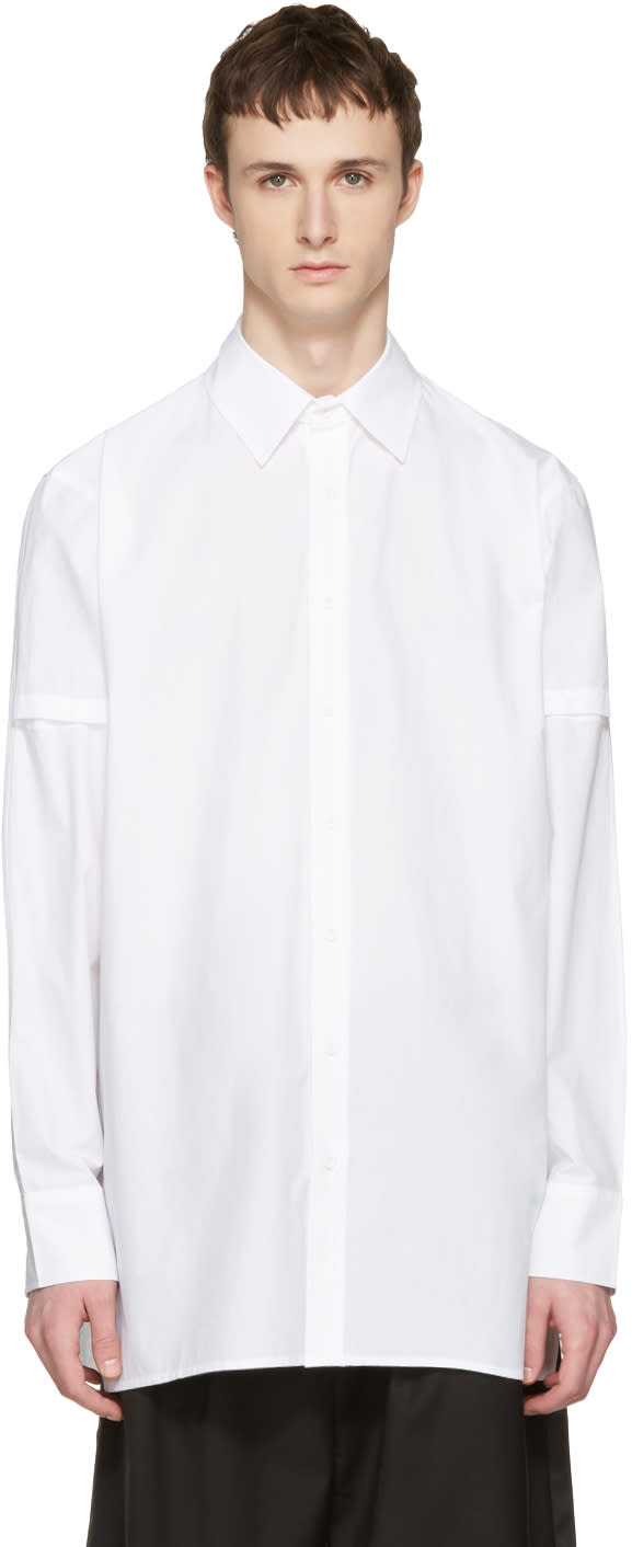 D By D White Disco City Print Shirt