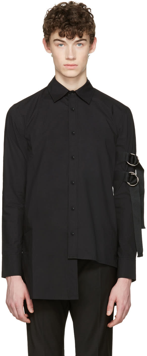 D By D Black Asymmetric Straps Shirt