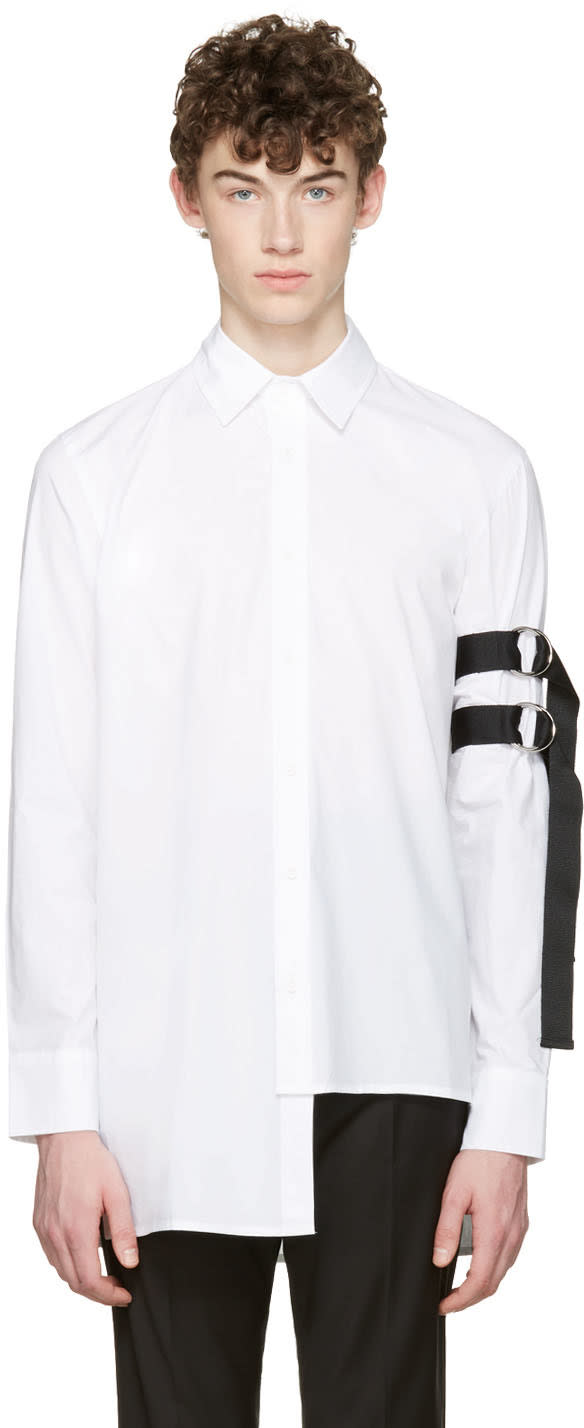 D By D White Asymmetric Straps Shirt