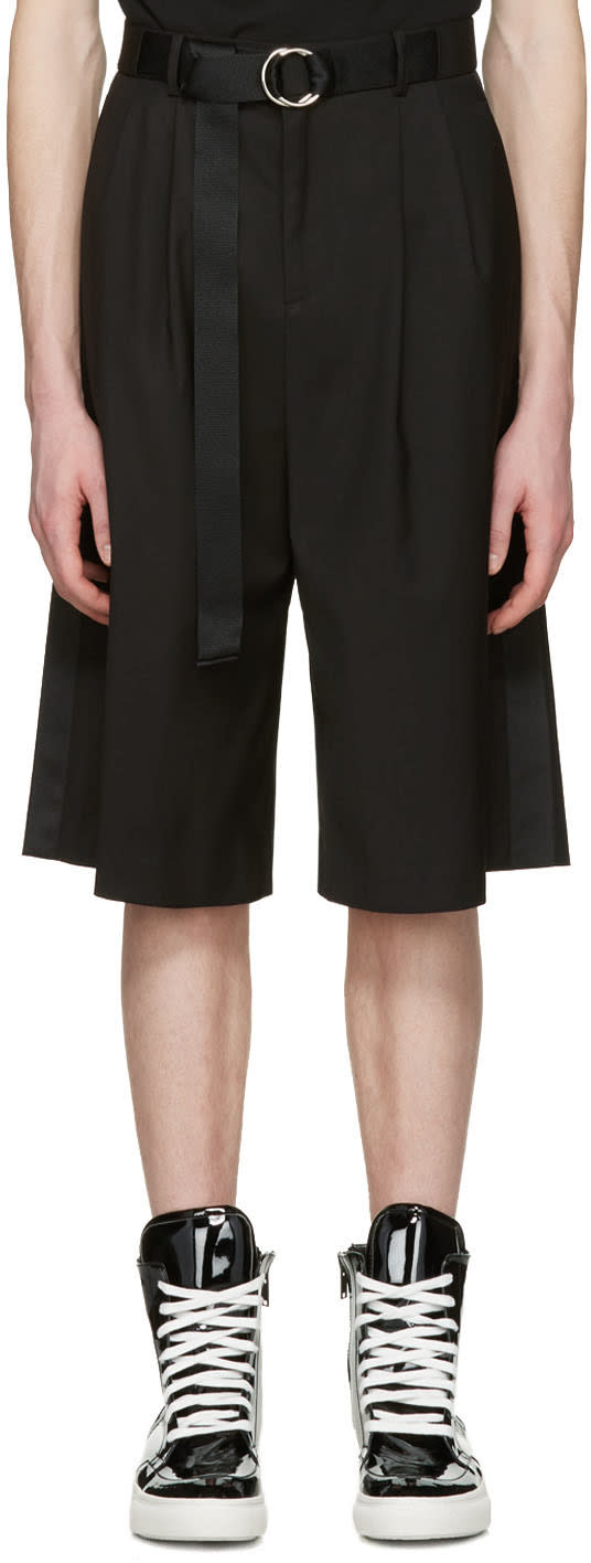 D By D Black Belted Shorts