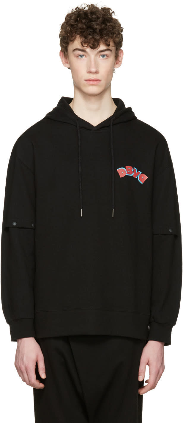 D By D Black Vented Sleeves Hoodie