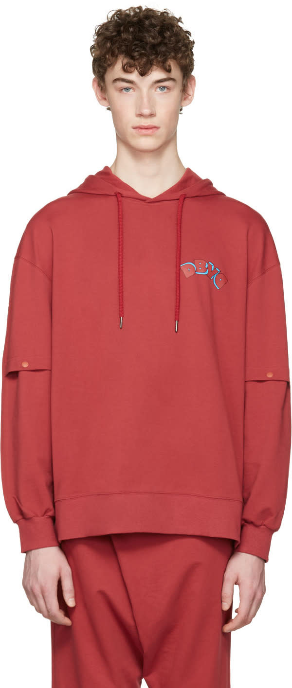 D By D Red Vented Sleeves Hoodie
