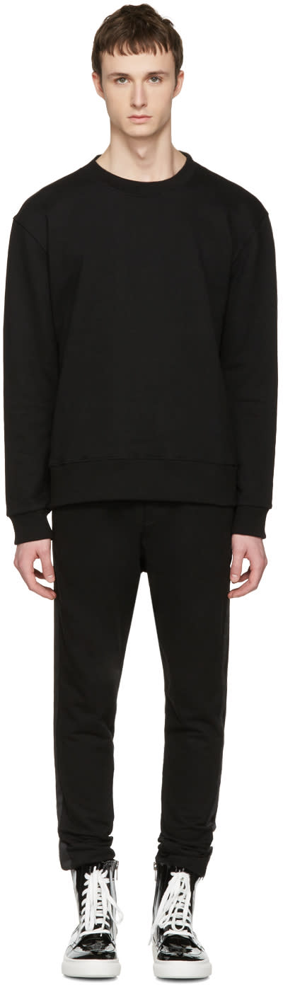 D By D Black Mesh Panel Pullover