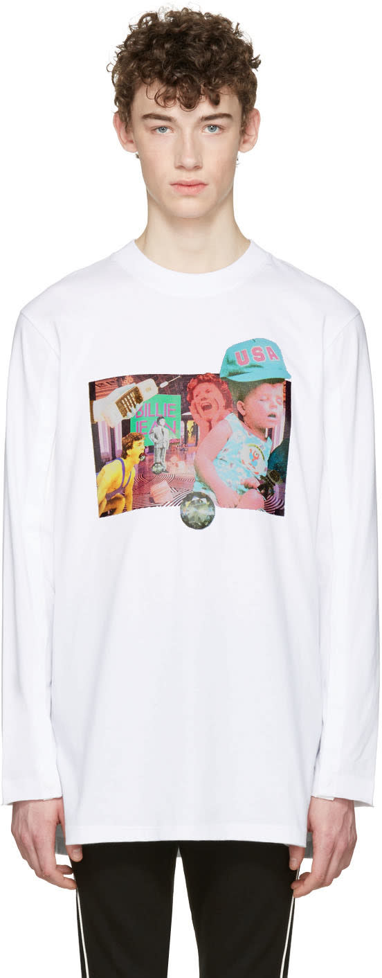 D By D White Open Long Sleeve T-shirt