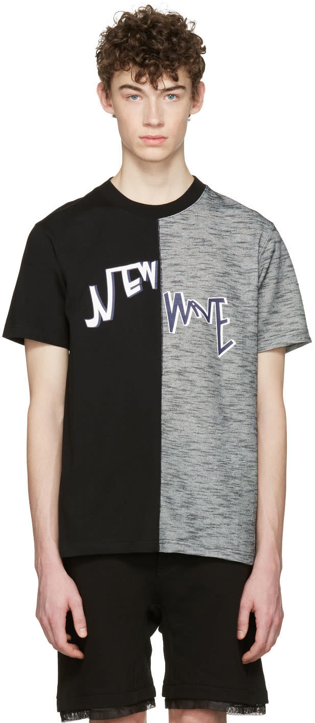 D By D Black new Wave Split T-shirt