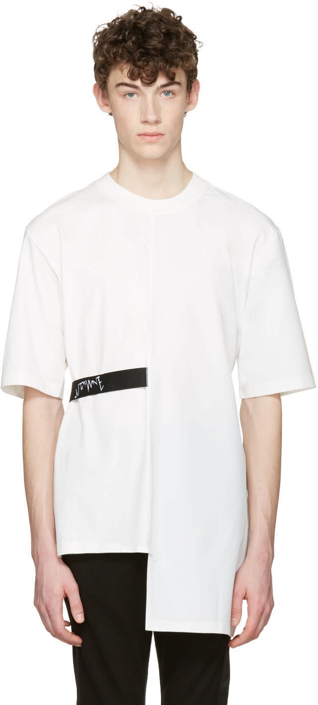 D By D White Back Tape T-shirt