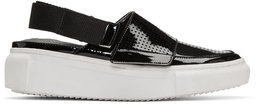 D By D Black Open-back Sneakers