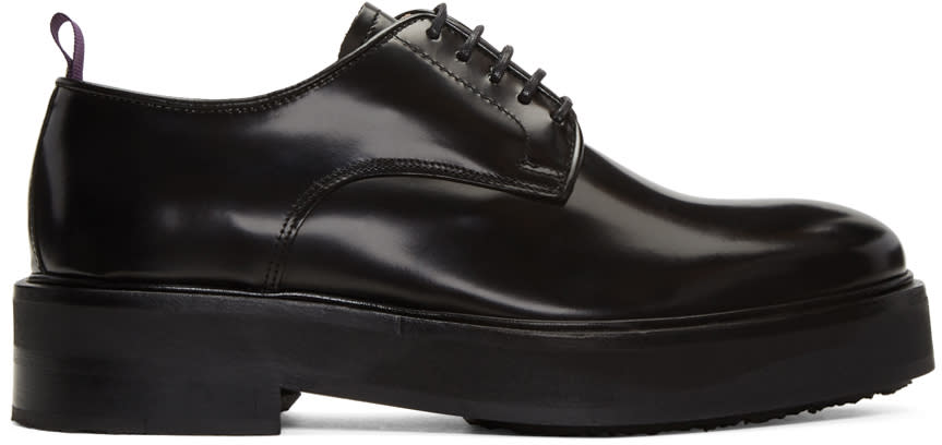 Eytys Black Leather Kingston Derbys