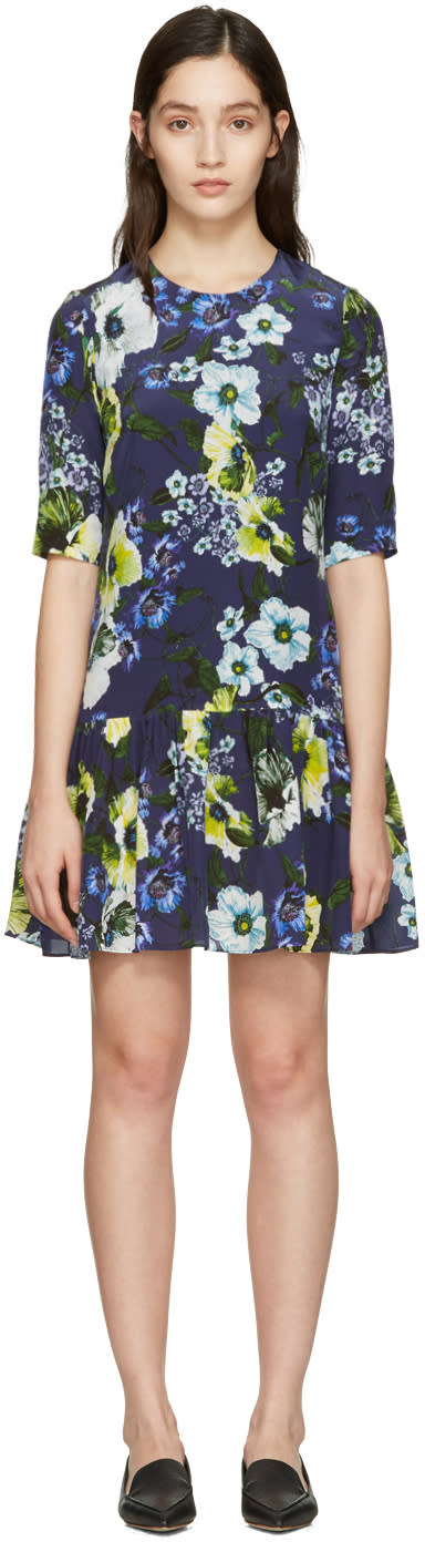 Erdem Navy Emmie Dress