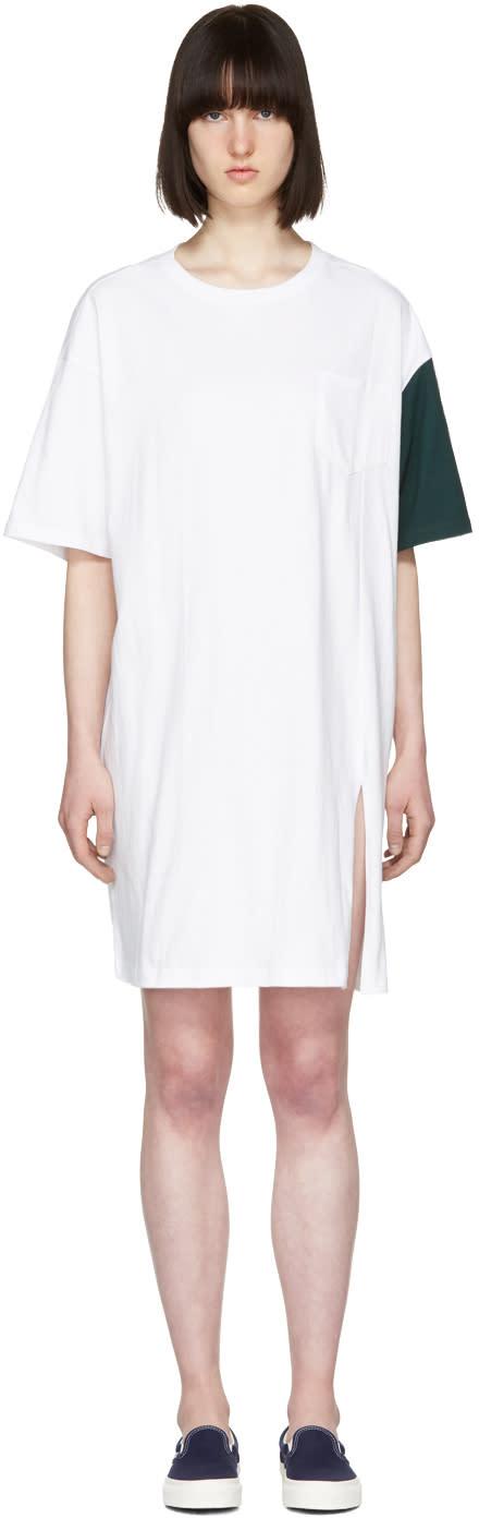 Sjyp White california Club T-shirt Dress
