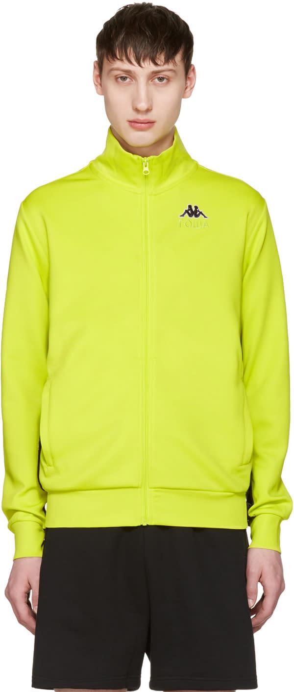 Gosha Rubchinskiy Green Kappa Edition Logo Sleeve Track Jacket