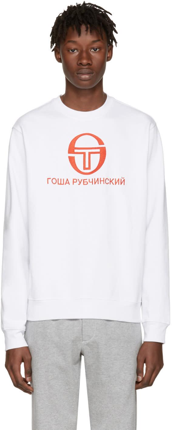 Gosha Rubchinskiy White Sergio Tacchini Edition Pullover