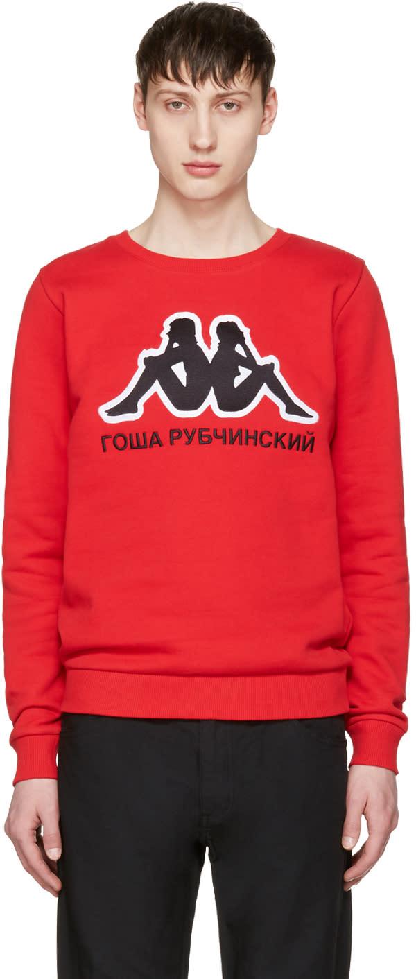 Gosha Rubchinskiy Red Kappa Edition Logo Pullover