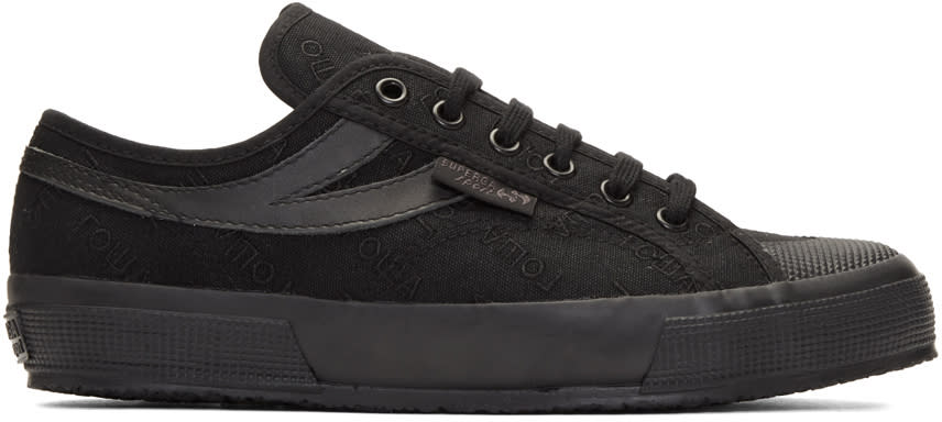 Gosha Rubchinskiy Black Superga Sport Edition Sneakers