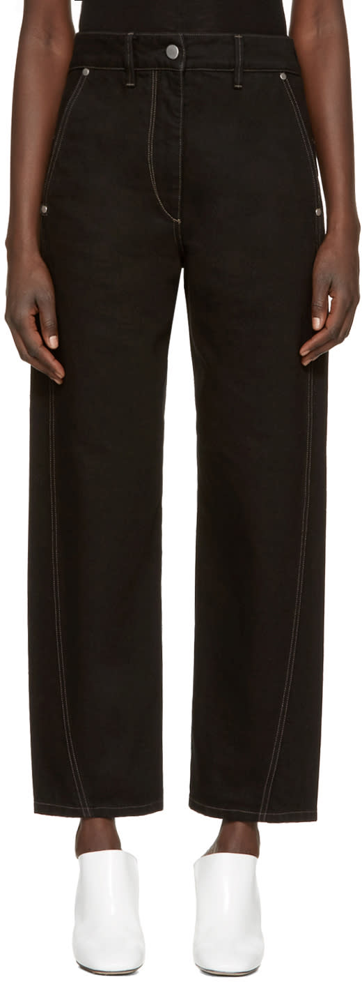 Lemaire Black Denim Twisted Trousers