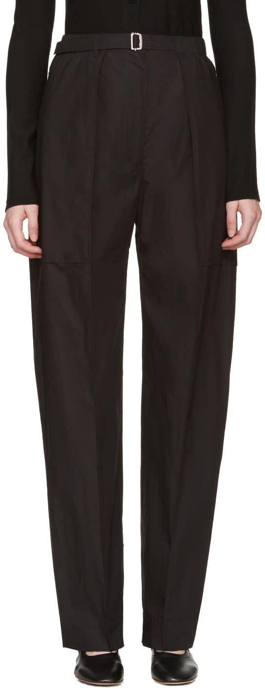 Lemaire Black Cargo Pants