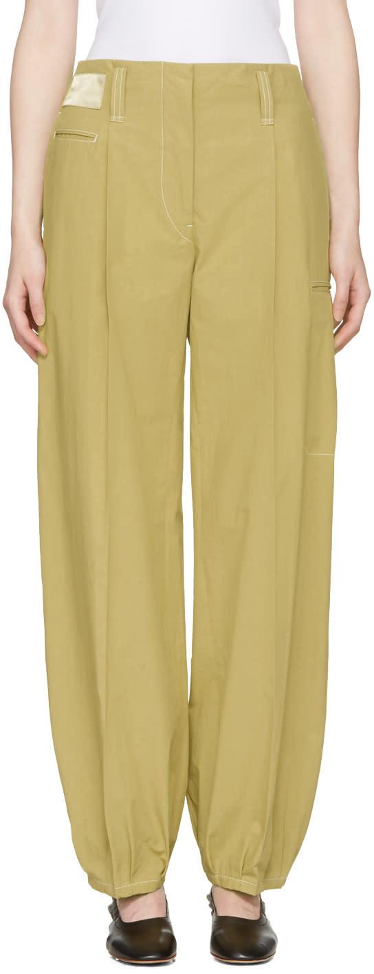 Lemaire Khaki Workwear Trousers