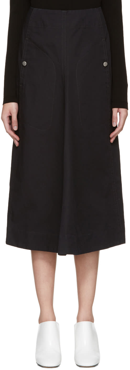 Lemaire Black Flared Skirt
