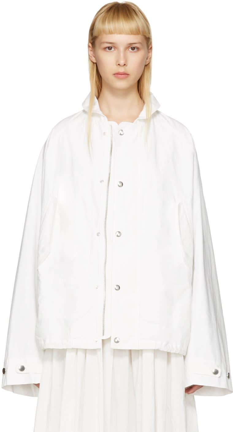 Lemaire White Raglan Jacket