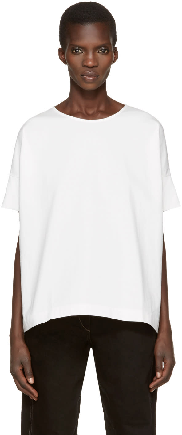 Lemaire White Loose T-shirt