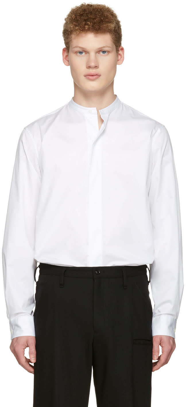 Lemaire White Officer Collar Shirt