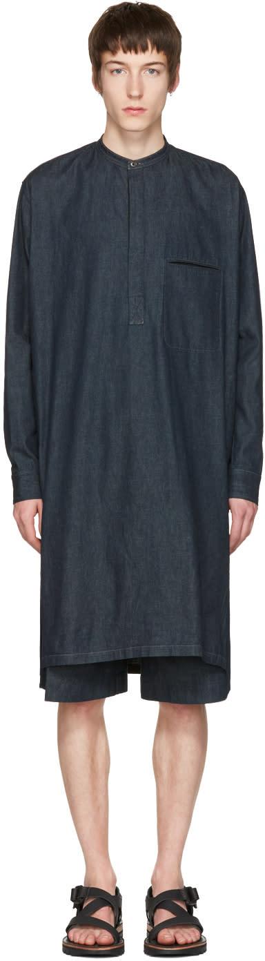 Lemaire Indigo Long Denim Shirt