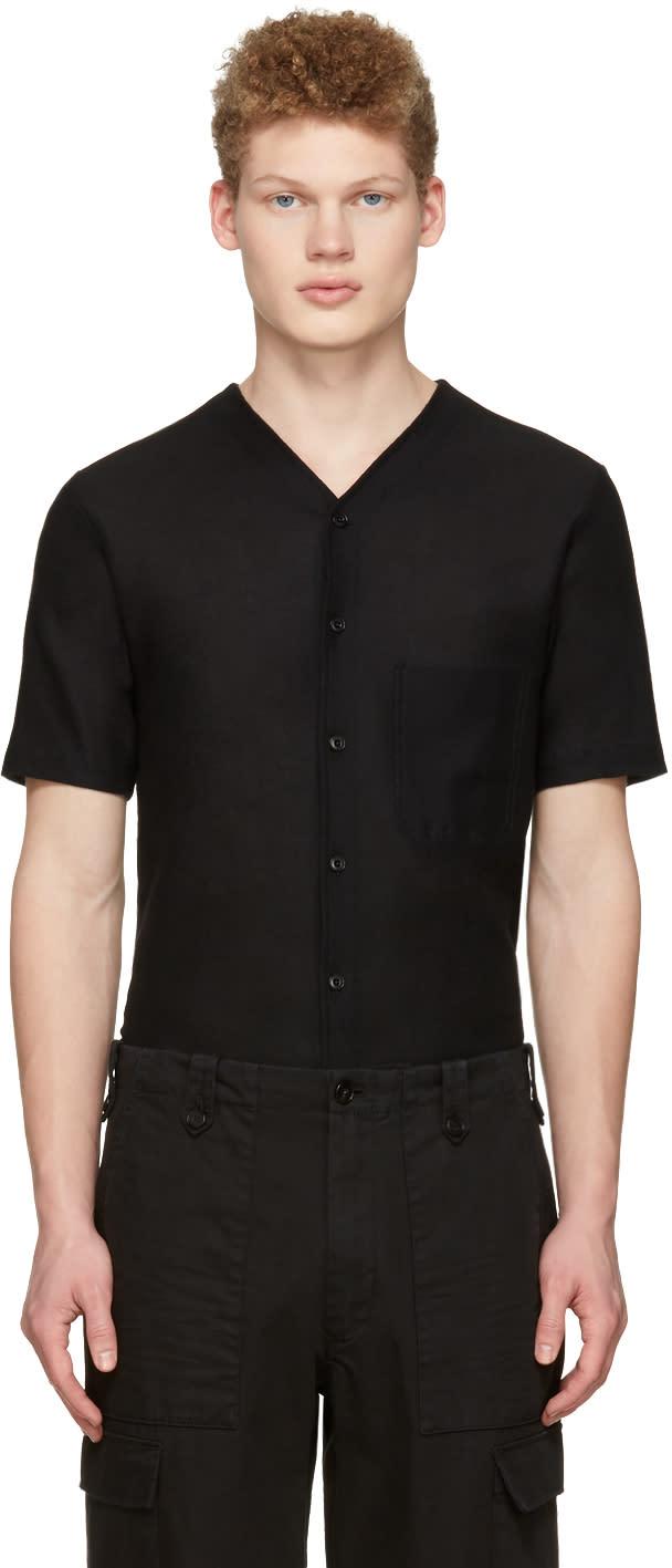 Lemaire Black V-neck Shirt