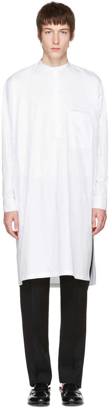 Lemaire White Long Poplin Shirt