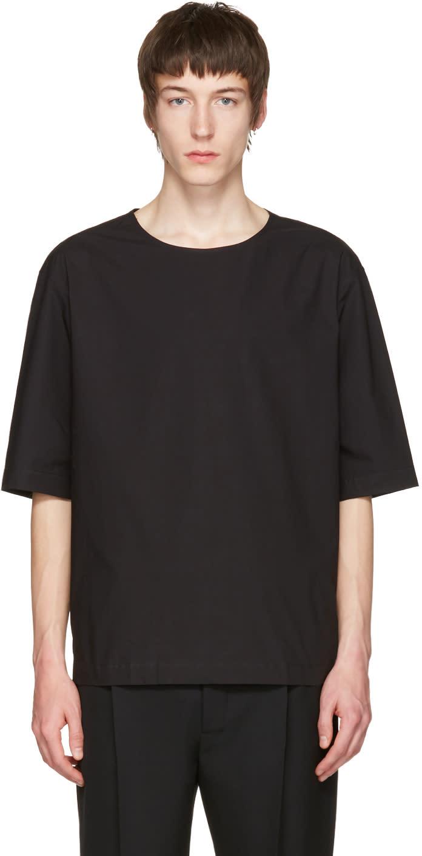 Lemaire Black Poplin T-shirt
