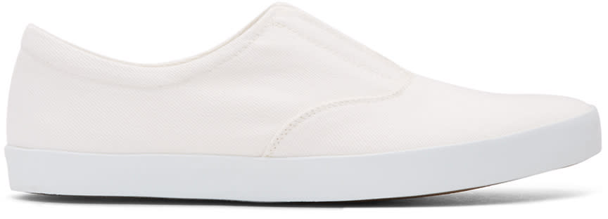 Lemaire Off-white Twill Slip-on Sneakers