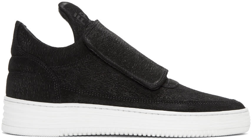 Filling Pieces Black Strap Sneakers