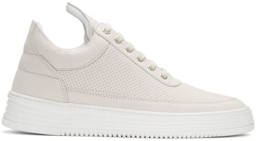 Filling Pieces Grey Perforated Sneakers