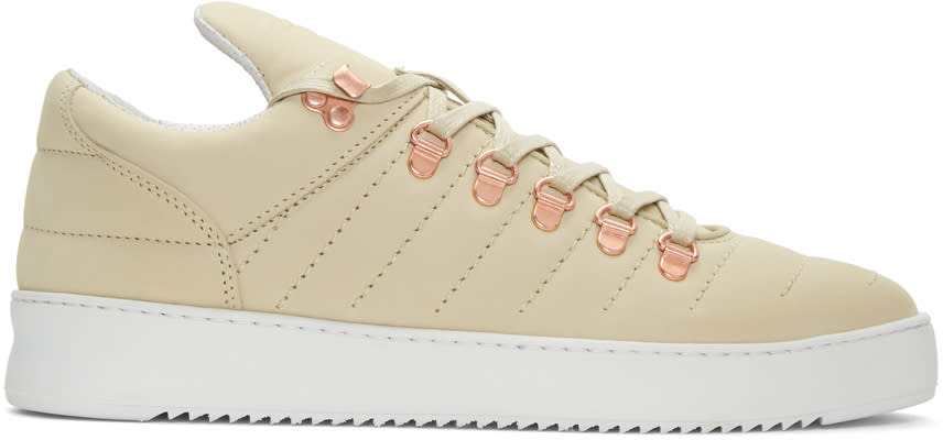 Filling Pieces Beige Mountain Cut Padded Stitch Sneakers