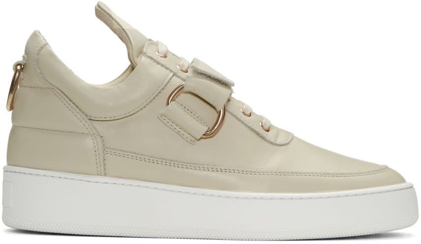 Filling Pieces Beige Clasp Low Sneakers