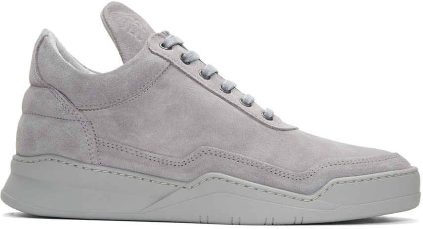 Filling Pieces Grey Ghost Tone Sneakers