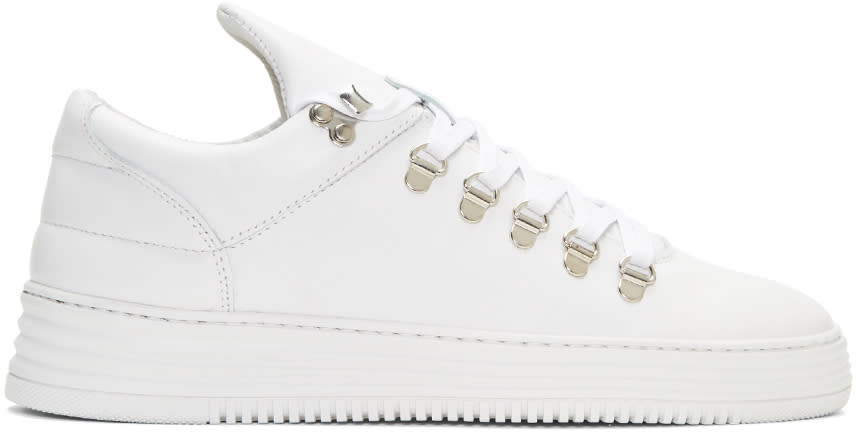 Filling Pieces White Mountain Cut Stripe Sneakers