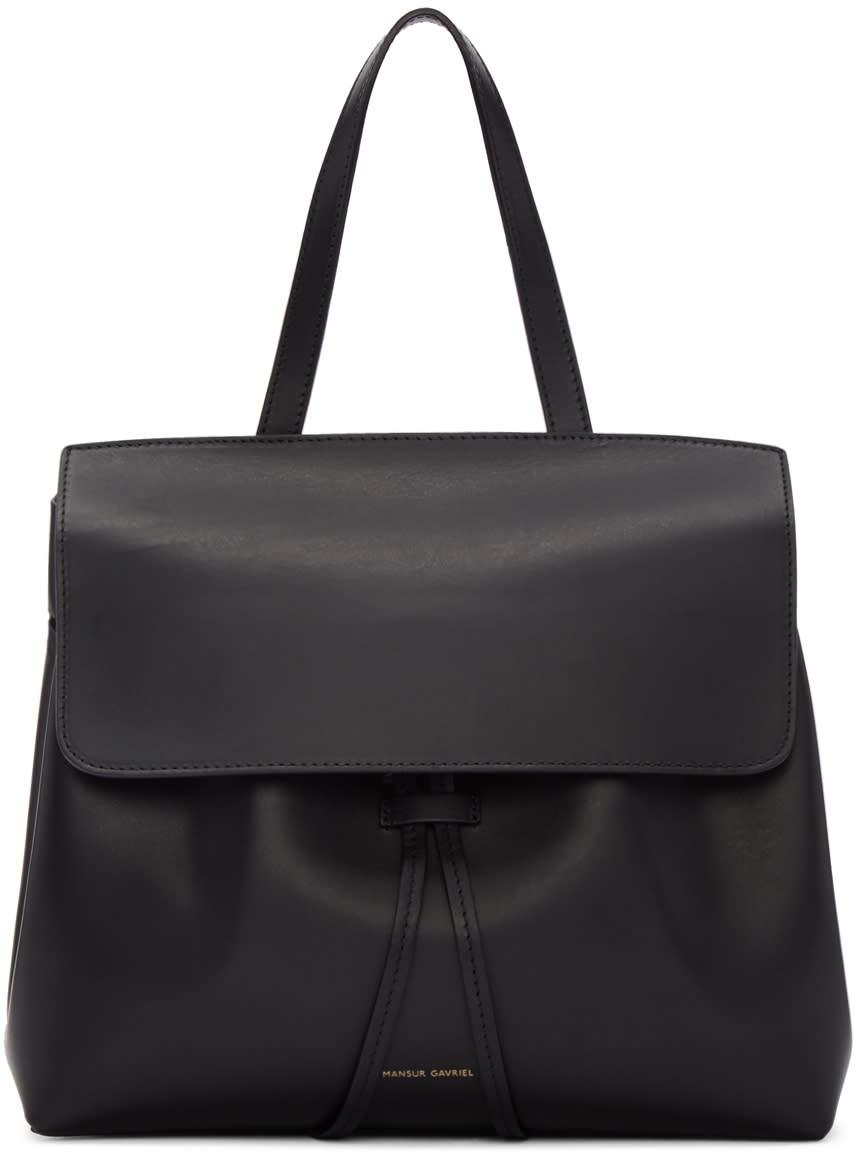 Mansur Gavriel Black Leather Mini Lady Bag