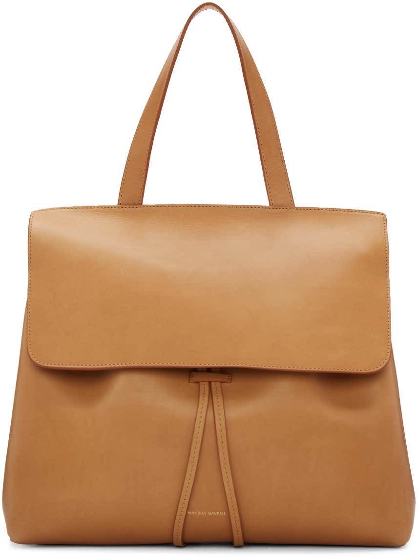Mansur Gavriel Tan Leather Lady Bag