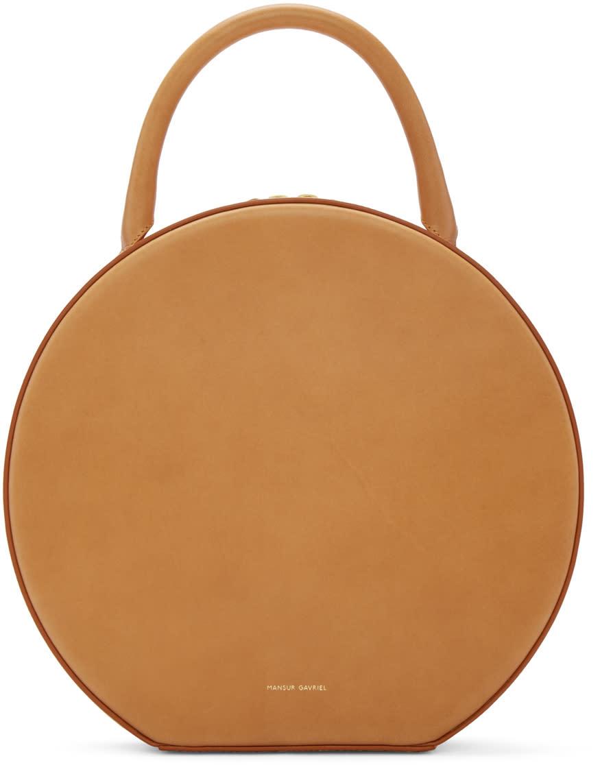 Mansur Gavriel Tan Leather Circle Bag