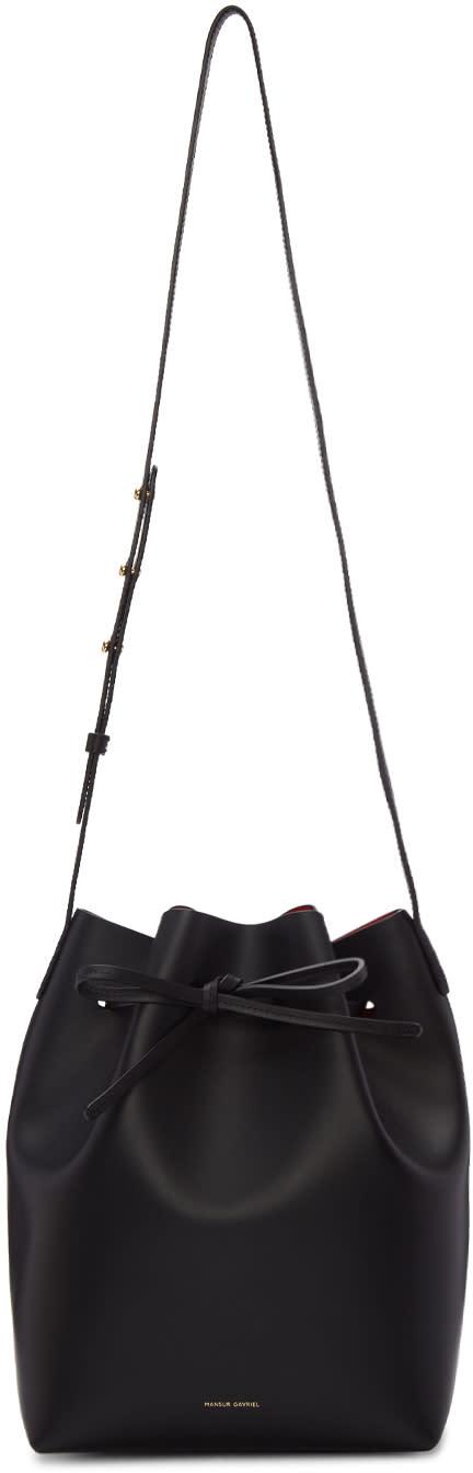 Mansur Gavriel Black Leather Bucket Bag