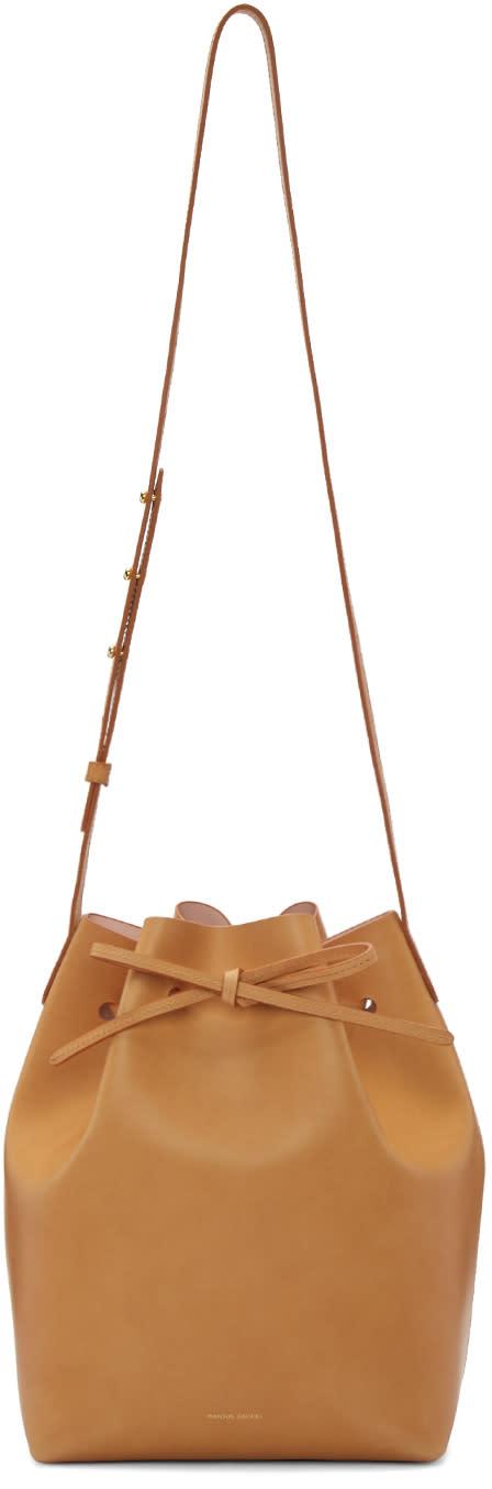Mansur Gavriel Tan Leather Bucket Bag