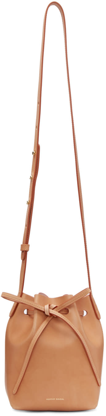 Mansur Gavriel Tan Mini Mini Bucket Bag