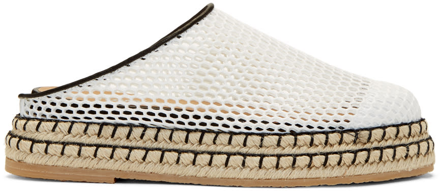 Flamingos White Mesh Gumbo Slip-on Espadrilles