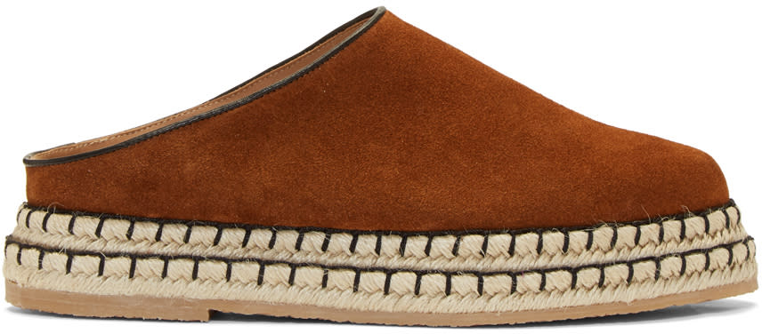 Flamingos Brown Suede Gumbo Slip-on Espadrilles