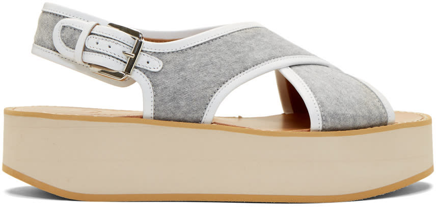 Flamingos Grey Jersey Malabar Sandals