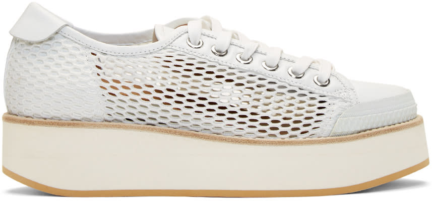 Flamingos White Mesh Tatum Sneakers