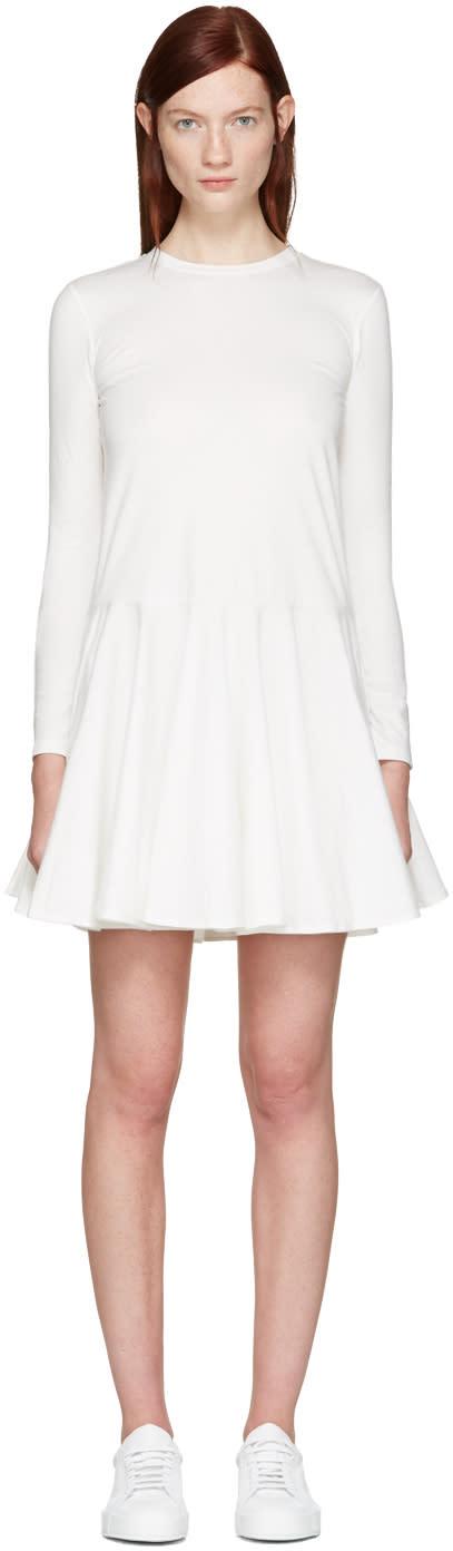 Edit White Circle Skirt Dress
