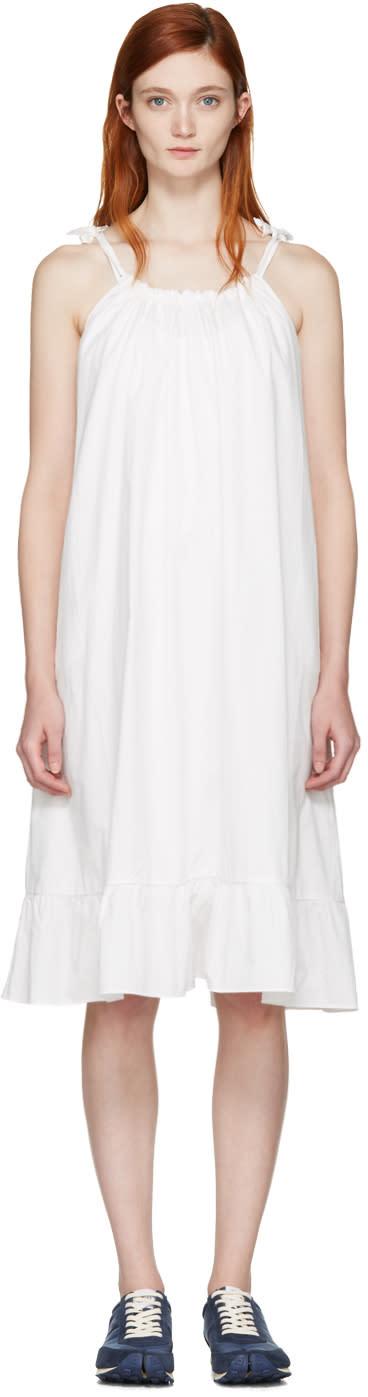 Edit White Tie Strap Dress
